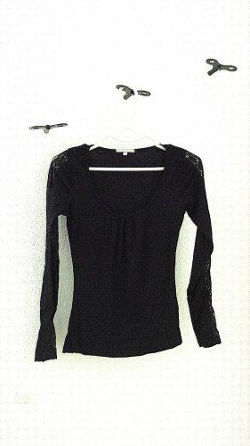 Langarm shirt mit Spitze, Gr. 34/36