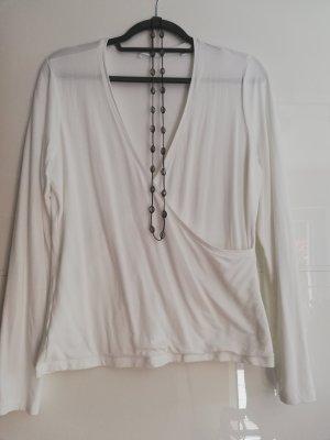Opus Wraparound Shirt white