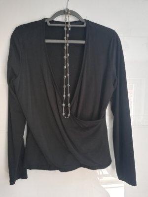 Opus Wraparound Shirt black