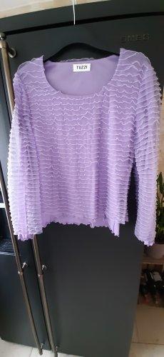 langarm shirt pullover Flieder Mit Rüschen Größe 40