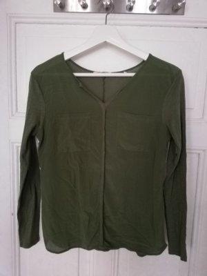 Langarm Shirt, Rich&royal, Baumwolle Seide, grün