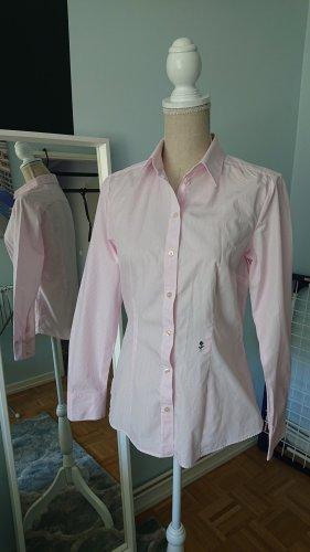 langarm Streifenbluse rosa-weiβ gestreift Marke Seidensticker 38 M 100% Baumwolle