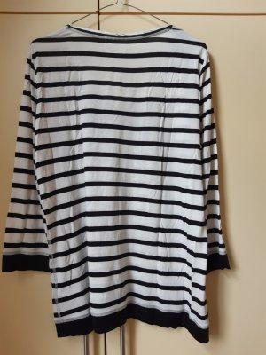 Luisa Cerano T-shirt rayé blanc-noir viscose