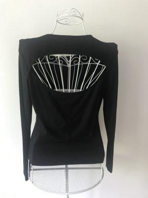 Langarm-Top mit freiem Rücken
