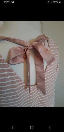 Only Camisa larga blanco-rosa