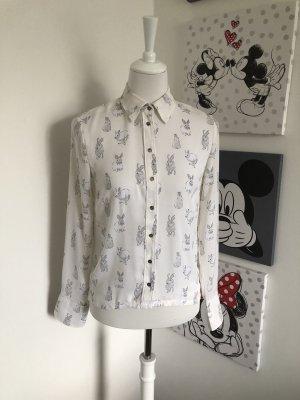 H&M Bluzka z długim rękawem biały-czarny