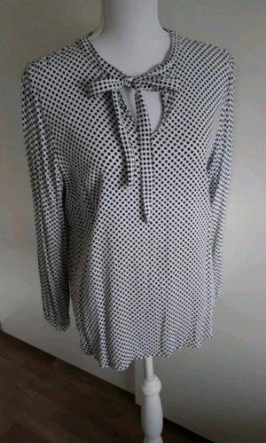 Tchibo / TCM Blusa collo a cravatta bianco-nero