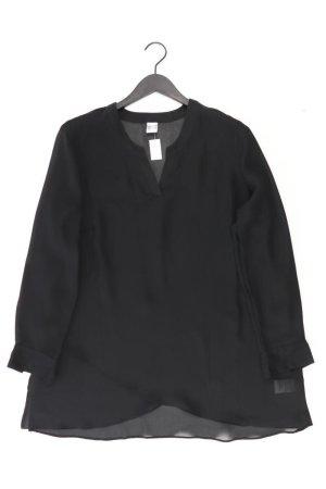Langarmbluse Größe 44 schwarz aus Polyester