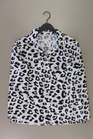 Langarmbluse Größe XL mit Tierdruck weiß aus Polyester