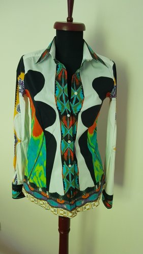 Etro Stand-Up Collar Blouse multicolored
