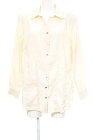 Langarmhemd creme schlichter Stil