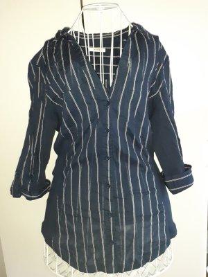 Langarmhemd mit Linien Gr. 44