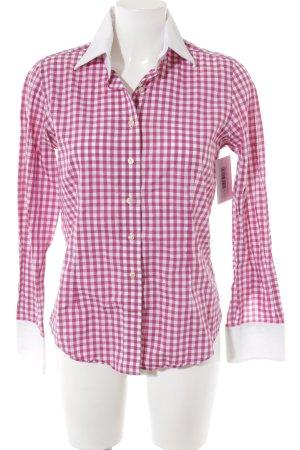 Langarmhemd purpur-weiß Karomuster Casual-Look