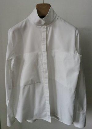 Chemise à manches longues blanc coton