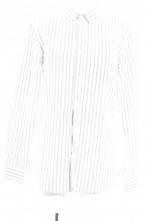 ADPT. Long Sleeve Shirt natural white-cadet blue striped pattern business style