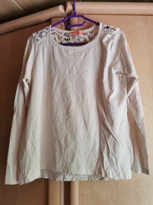 Esmara Gehaakt shirt wit-wolwit Katoen