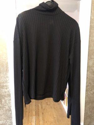 H&M Camisa de cuello de tortuga negro