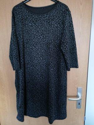 Vestido de tela de sudadera negro-gris claro