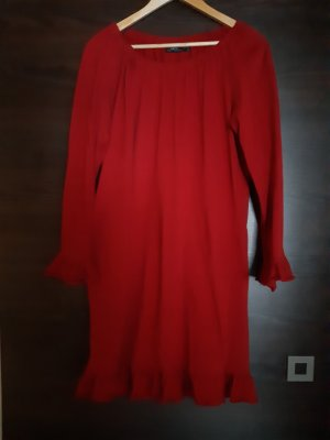b.p.c. Bonprix Collection Longsleeve Dress red cotton