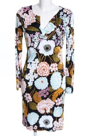 Langarmkleid Blumenmuster Casual-Look