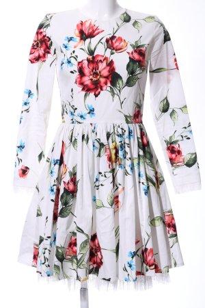 Langarmkleid florales Muster Casual-Look
