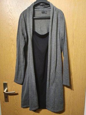 Langarmkleid grau/schwarz Größe 40/42
