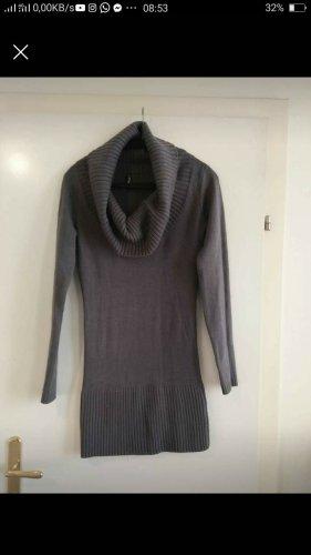 Langarmkleid /Long Pullover  mit Wasserfall Kragen Gr M