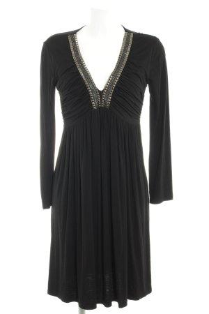 Langarmkleid schwarz Elegant