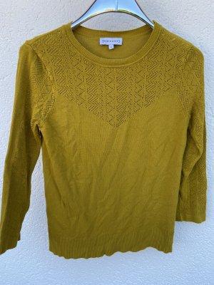 Warehouse Jersey de cuello redondo amarillo limón Algodón
