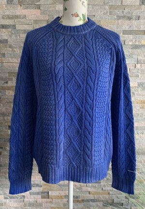 Polo Ralph Lauren Coarse Knitted Sweater blue cotton
