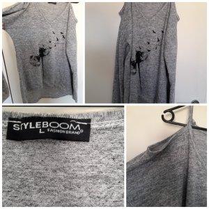STYLEBOOM Suéter gris claro