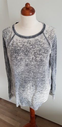 H&M Camisa acanalada gris claro-gris