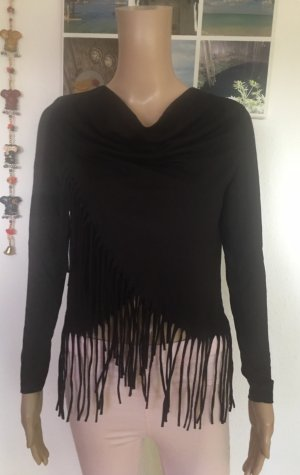 mister*lady Cowl-Neck Shirt black