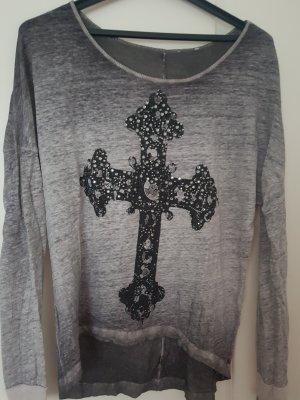 Maglia batik nero-grigio scuro
