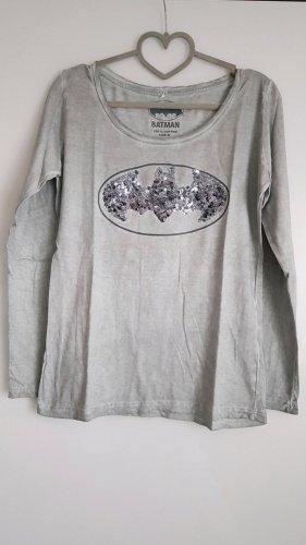 Batman Koszulka z długim rękawem srebrny-jasnoszary