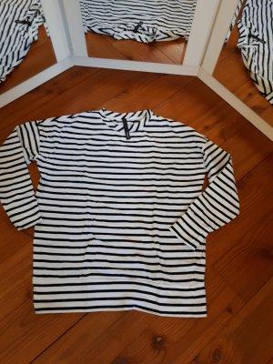 10 Days Camicia lunga bianco-nero Cotone