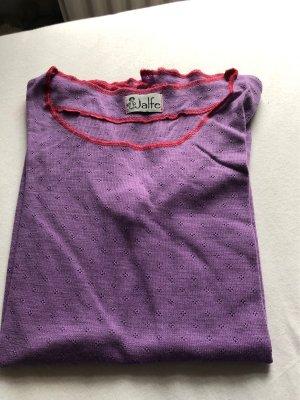 jalfe Top en maille crochet multicolore