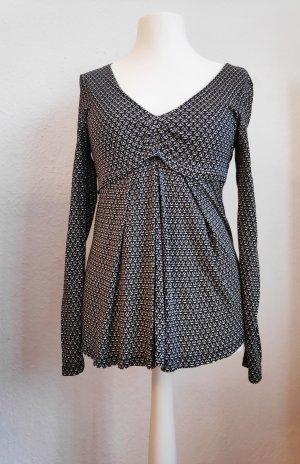 Langarmshirt Bluse Muster Oui Größe 36