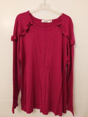 JustFab Camicia lunga rosso lampone