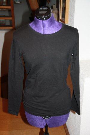 Charles Vögele Długa koszulka czarny Bawełna