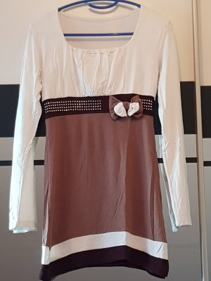 Amazone Camisa larga blanco-marrón
