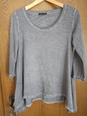 Blind Date Camisa con cuello caído gris claro-gris
