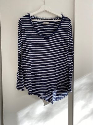 Abercrombie & Fitch V-hals shirt donkerblauw-wit