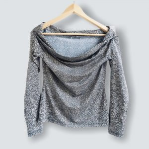 H&M Basic Carmen shirt lichtbruin-korenblauw