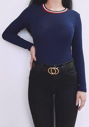 H&M Lang shirt blauw-donkerblauw