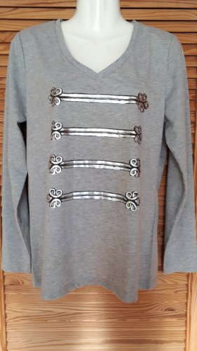 Aniston V-Neck Shirt silver-colored-light grey