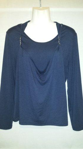 Made in Italy Camicia a tunica blu