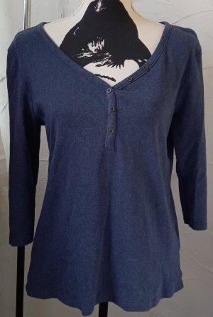 Langarmshirt, Gr.L, dunkelblau