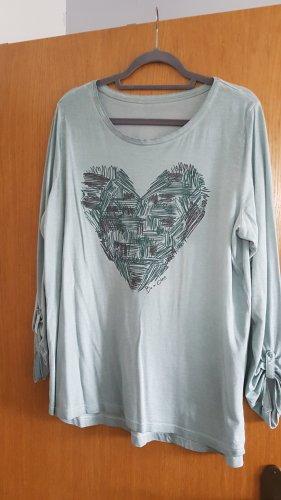 Shirt met print lichtgroen