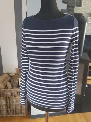 H&M Gestreept shirt wit-donkerblauw